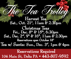 Tea Trolley Harvest Tea and Christmas Tea