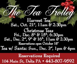 Tea Trolley Harvest Tea and Christmas Tea